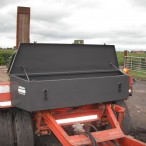 Materiaalbak op aanhangwagen